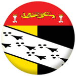 Norfolk Old Council Flag 58mm Mirror