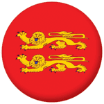 Normandy Province Flag 58mm Button Badge