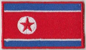 North Korea Embroidered Flag Patch, style 04.