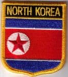 North Korea Embroidered Flag Patch, style 07.