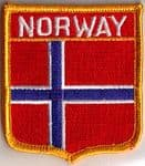 Norway Embroidered Flag Patch, style 06.