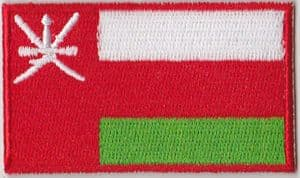 Oman Embroidered Flag Patch, style 04.