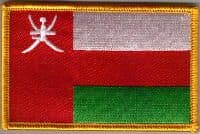 Oman Embroidered Flag Patch, style 08.