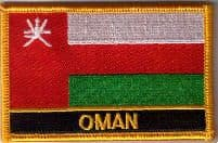 Oman Embroidered Flag Patch, style 09.