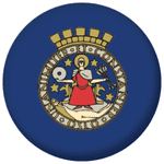 Oslo Flag 25mm Button Badge