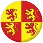 Owain Glyndwr Flag 25mm Button Badge