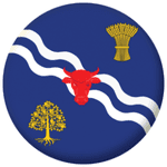 Oxfordshire Old County Flag 58mm Button Badge