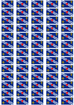 Oxfordshire Old Flag Stickers - 65 per sheet