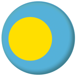 Palau Country Flag 25mm Pin Button Badge