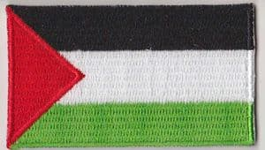Palestine Embroidered Flag Patch, style 04.