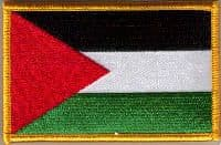 Palestine Embroidered Flag Patch, style 08.