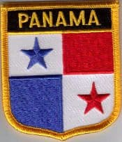 Panama Embroidered Flag Patch, style 07