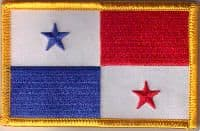 Panama Embroidered Flag Patch, style 08