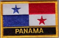 Panama Embroidered Flag Patch, style 09
