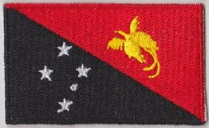 Papua New Guinea Embroidered Flag Patch, style 04