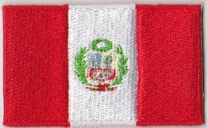 Peru Embroidered Flag Patch, style 04.