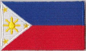 Philippines Embroidered Flag Patch, style 04.
