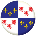 Picardy Province Flag 58mm Mirror Keyring
