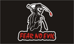 Pirate Fear No Evil Large Flag - 5' x 3'