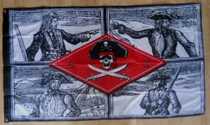 Pirate Gallery Large Flag - 5' x 3'.