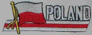 Poland Embroidered Flag Patch, style 01.
