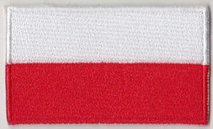 Poland Embroidered Flag Patch, style 04.
