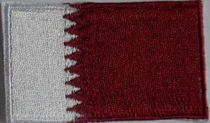 Qatar Embroidered Flag Patch, style 04.