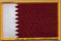 Qatar Embroidered Flag Patch, style 08.