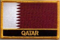 Qatar Embroidered Flag Patch, style 09.