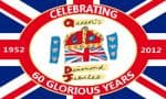 Queen's Diamond Jubilee Large Flag - 5' x 3', 60 Glorious Years.