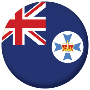 Queensland State Flag 25mm Pin Button Badge