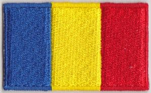 Romania Embroidered Flag Patch, style 04.