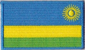 Rwanda Embroidered Flag Patch, style 04