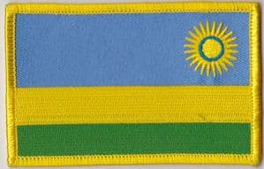 Rwanda Embroidered Flag Patch, style 08.