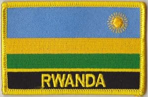 Rwanda Embroidered Flag Patch, style 09.