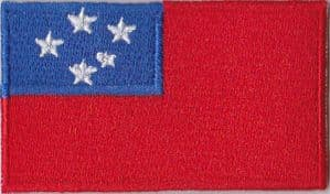 Samoa Embroidered Flag Patch, style 04