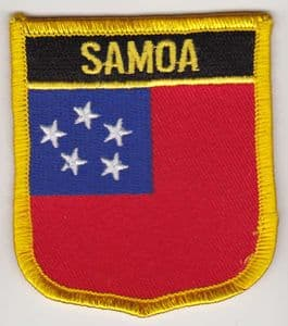 Samoa Embroidered Flag Patch, style 07.