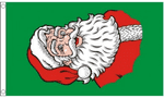 Santa's Face Large Christmas Flag - 5' x 3'.