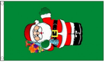 Santa with Gifts Large Christmas Flag - 5' x 3'.