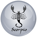 Scorpio Astrology Grey 25mm Flat Back