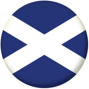 Scotland (St Andrews Cross) Country Flag 25mm Pin Button Badge