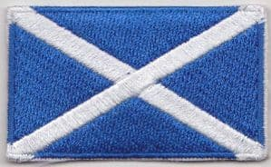 Scotland Embroidered Flag Patch, style 04.