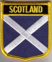 Scotland (St. Andrew) Embroidered Flag Patch, style 07.