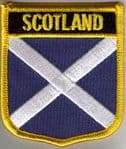 Scotland Embroidered Flag Patch, style 07