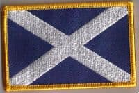 Scotland (St. Andrew) Embroidered Flag Patch, style 08.