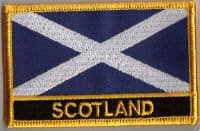 Scotland (St. Andrew) Embroidered Flag Patch, style 09.