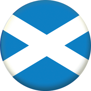 Scotland Light Blue Country Flag 25mm Pin Button Badge
