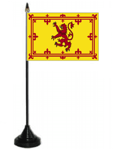 Scotland (Lion) Desk / Table Flag with plastic stand and base.