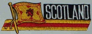 Scotland (Lion) Embroidered Flag Patch, style 01.