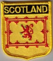 Scotland (Lion) Embroidered Flag Patch, style 07.